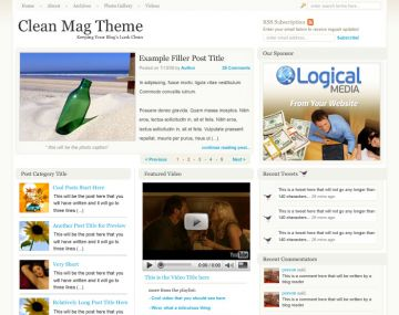 cleanmag theme